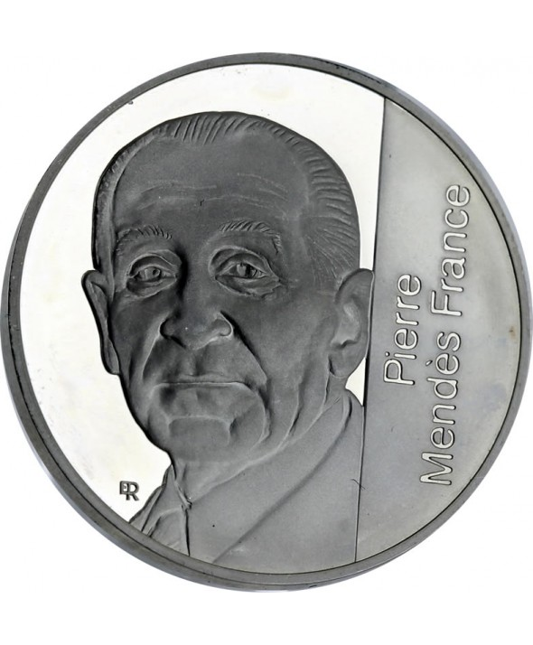 5 Francs 1992 Argent BE Pierre Mendès France