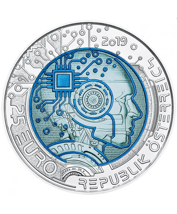 25 Euros Niobium AUTRICHE 2019 - Intelligence Artificielle