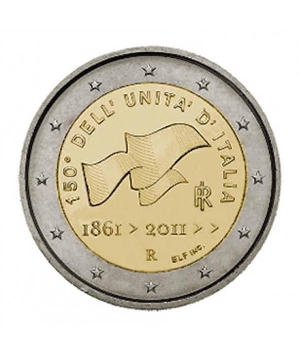 2 Euros Commémo. ITALIE 2011 - Unification italienne