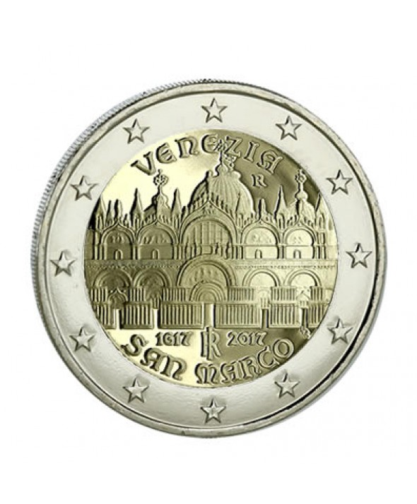 2 Euros Commémo. ITALIE 2017 - Basilique Saint-Marc de Venise circulation courante