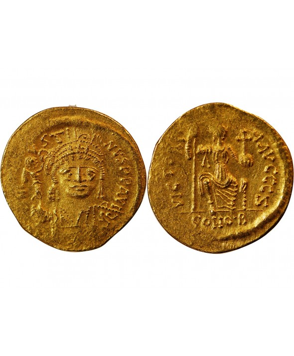 JUSTIN II - SOLIDUS OR CONSTANTINOPLE 565 / 578