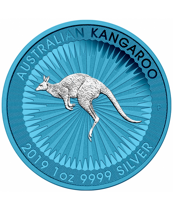 Kangourou Space Blue - 1 Once argent AUSTRALIE 2019