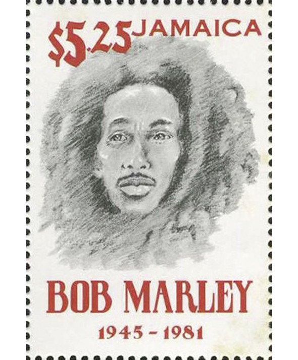 Lot 2 timbres de 60 cents et 5,25 dollars JAMAIQUE - Bob Marley