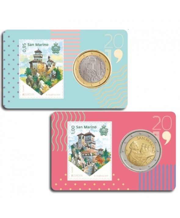 LOT 2 Coincards et timbres Saint-Marin 2019