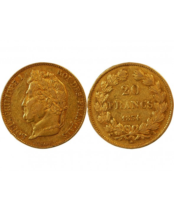 LOUIS PHILIPPE - 20 FRANCS OR 1834 A PARIS