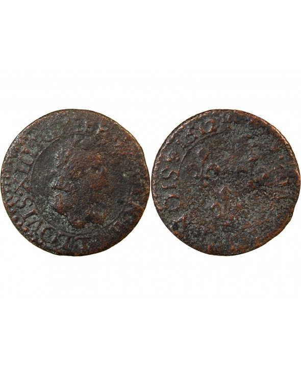 LOUIS XIII - DOUBLE TOURNOIS 1612 T NANTES