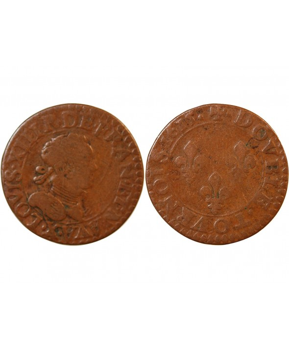 LOUIS XIII - DOUBLE TOURNOIS 1615 X AMIENS
