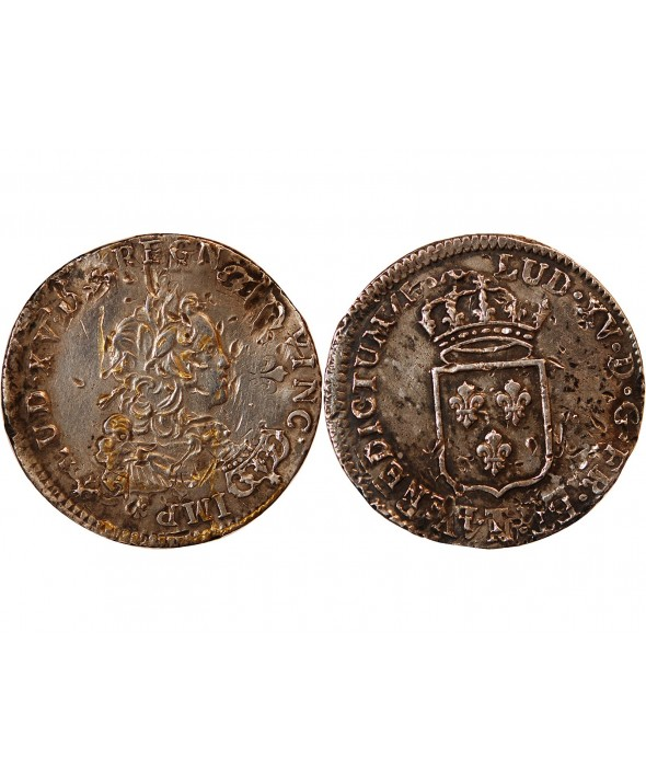 LOUIS XV - 1/3 ECU DE FRANCE ARGENT NANTES