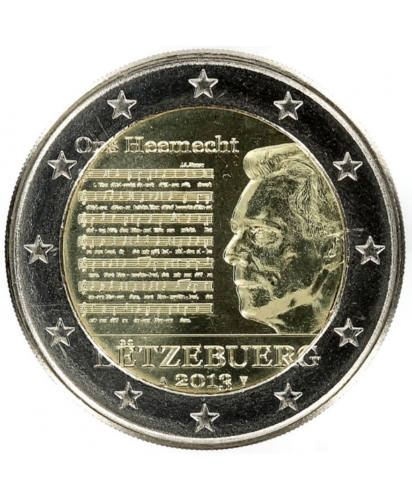2 Euros Commémo. LUXEMBOURG 2013 - Hymne National