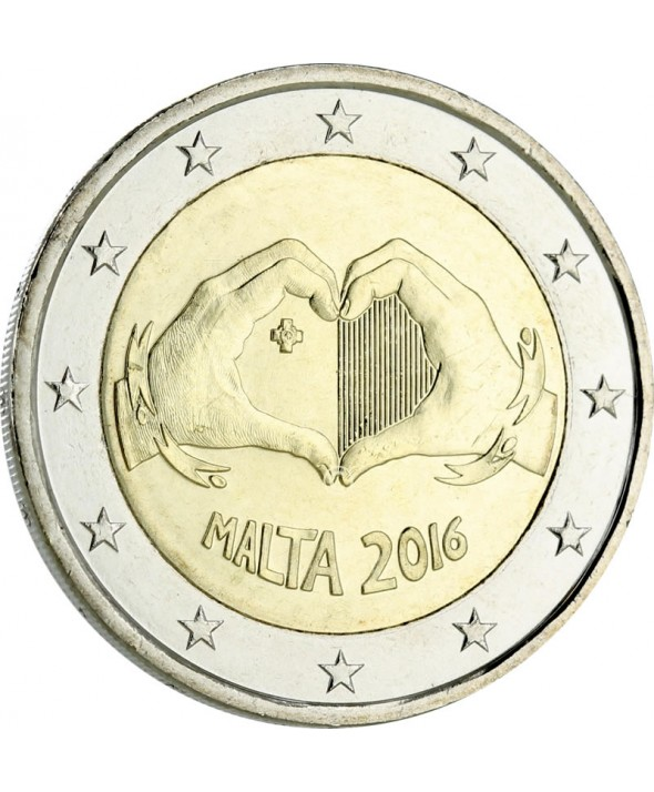 2 Euros Commémo. MALTE 2016 - Love