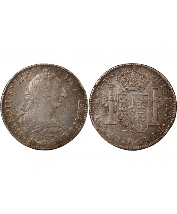 MEXIQUE, CHARLES III - 8 REALES ARGENT 1773 Mo MEXICO
