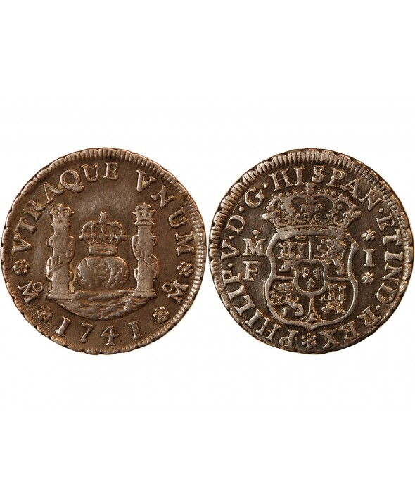 MEXIQUE, PHILIPPE V - 1 REAL ARGENT 1741