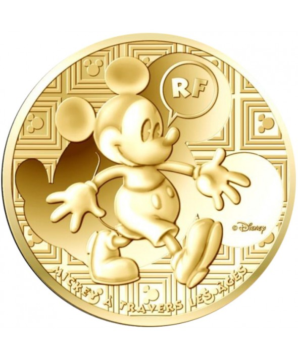 50 Euros OR BE FRANCE 2016 - Mickey à travers les âges
