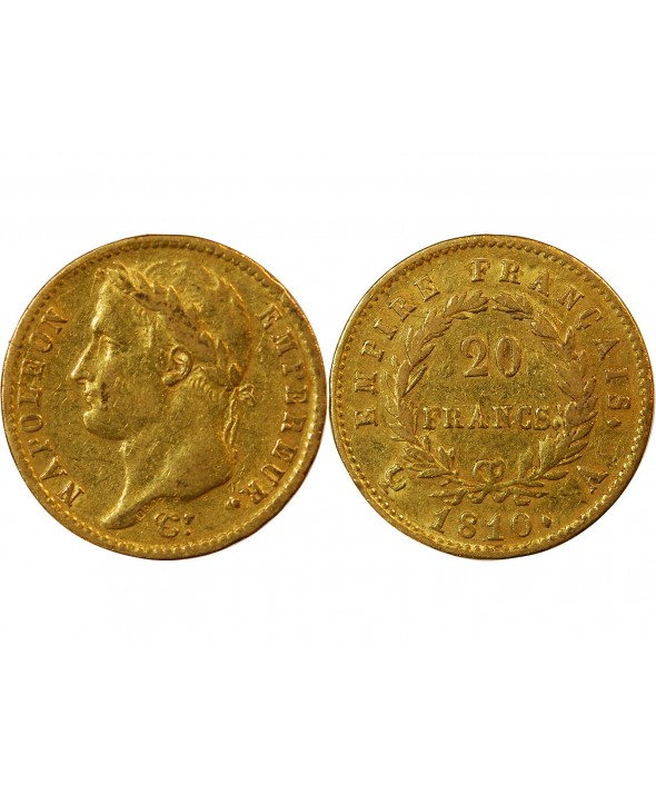 NAPOLEON Ier  - 20 FRANCS OR 1810 A PARIS