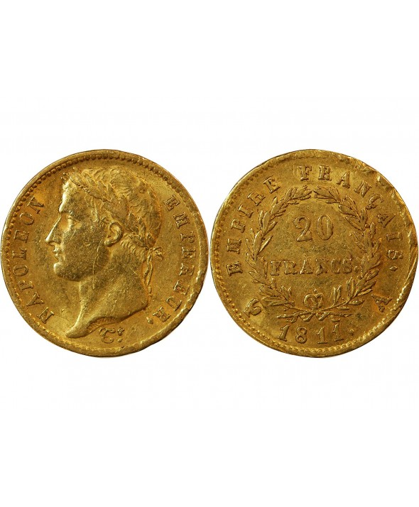 NAPOLEON Ier - 20 FRANCS OR 1811 A PARIS