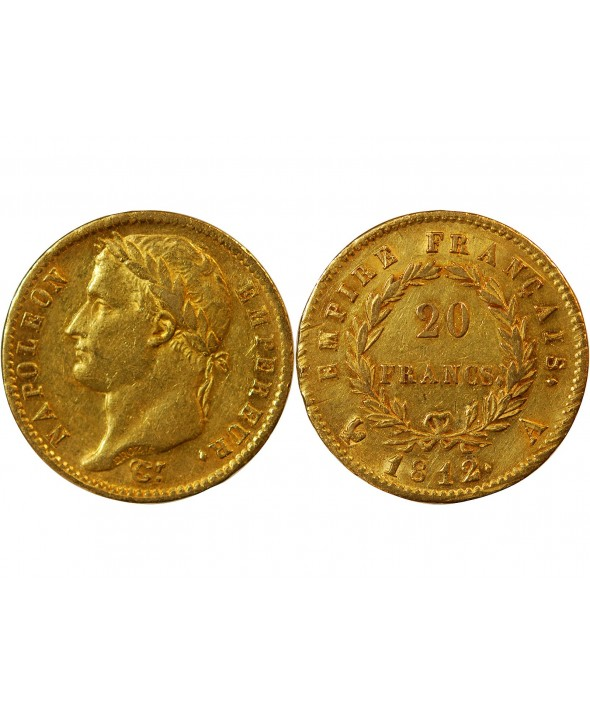 NAPOLEON Ier - 20 FRANCS OR 1812 A PARIS