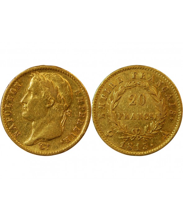 NAPOLEON Ier - 20 FRANCS OR 1813 A PARIS