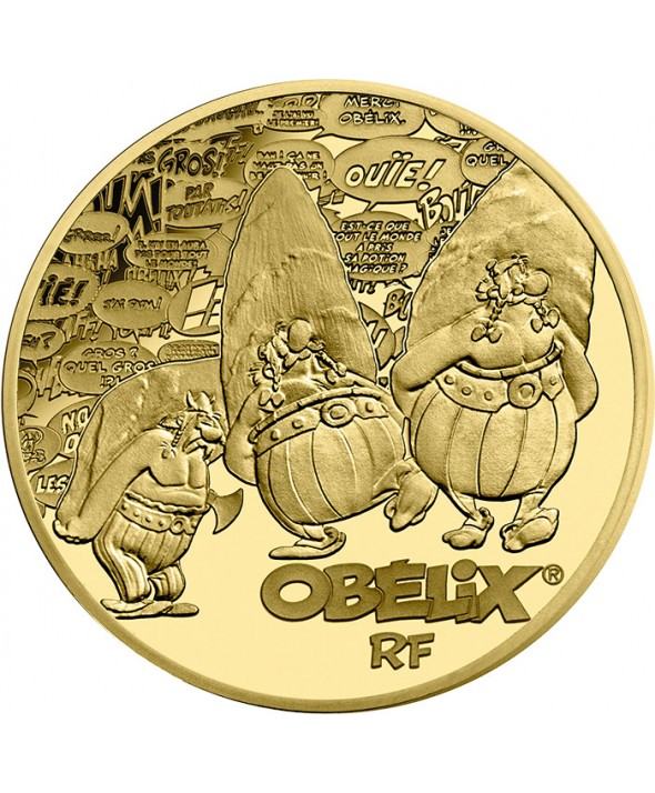 Obélix - 50 Euros 1/4 Oz Or BE FRANCE 2019 60 ans d'Astérix