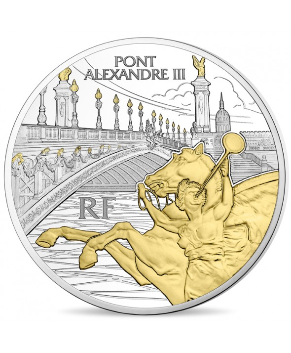Pont Alexandre III 10 Euros Argent BE FRANCE 2018 (MDP)