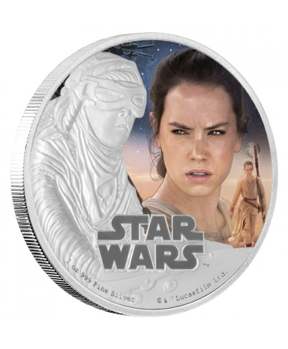 REY - STAR WARS - 1 Once Argent Couleur NIUE 2016