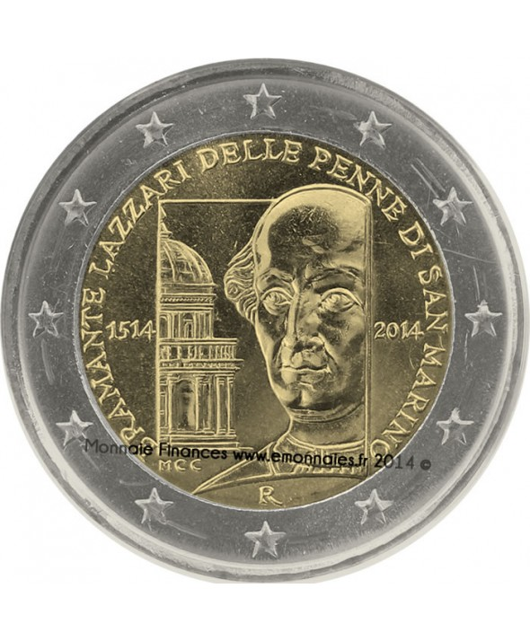"2 Euros Commémorative - Saint Marin 2014 ""Bramante Lazzari"""
