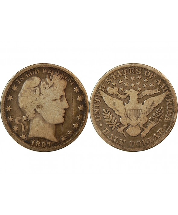 "USA - 1/2 DOLLAR ""Barber"" 1897"