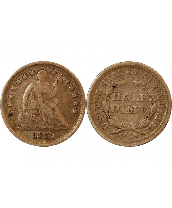 "USA - HALF DIME ""Seated Liberty"" 1857"