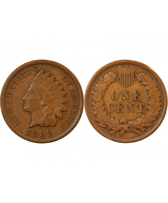 "USA - ONCE CENT ""Indian Head"" 1889"