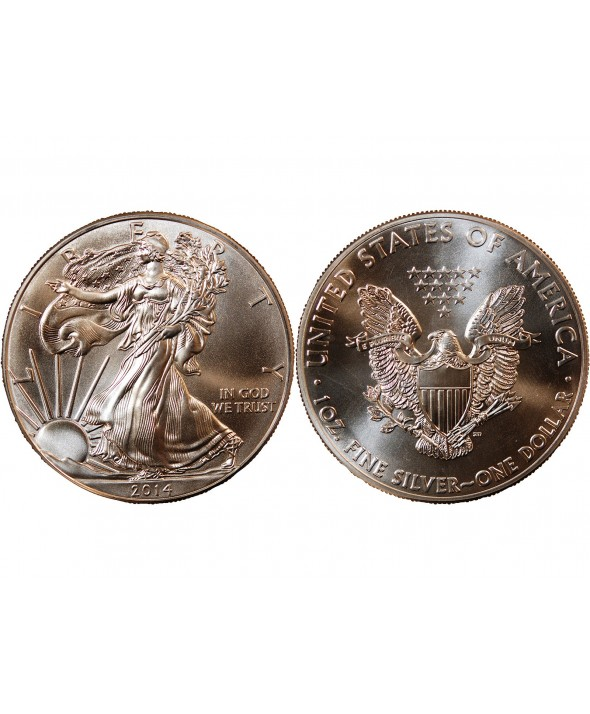 USA, SILVER EAGLE - ONCE D'ARGENT 2014