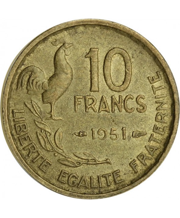 10 Francs - Type Georges Guiraud - France 1951 (SUP)
