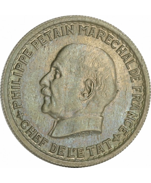 5 Francs – Type Pétain – France 1941 (SUP)