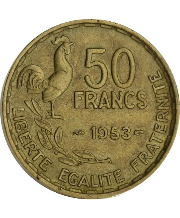 50 Francs - Type G. Guiraud - France 1952 (SUP)