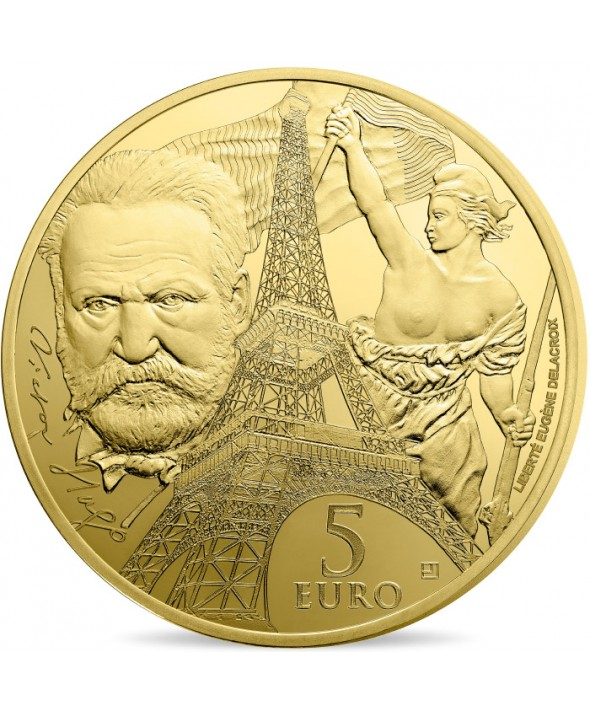 Victor HUGO - Europa Star 5 Euros Or BE FRANCE 2017 (MDP)