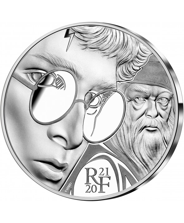 Harry Potter et Dumbledore - 10 Euros Argent BE FRANCE 2021