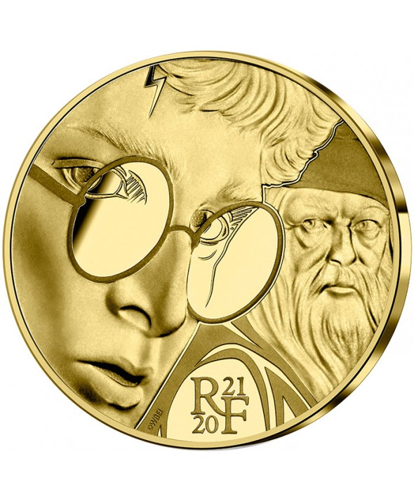 Harry Potter et Dumbledore - 50 Euros Or BE FRANCE 2021