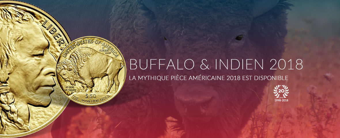 Buffalo et indiens 1 once or 2018 USA