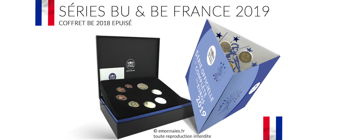 Séries BU et BE France 2019 Monnaie de Paris